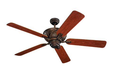 "Monte Carlo 52"" Bayshore Outdoor Fan - Roman Bronze - Ceiling Fan 5BY52RB - Chachkies"