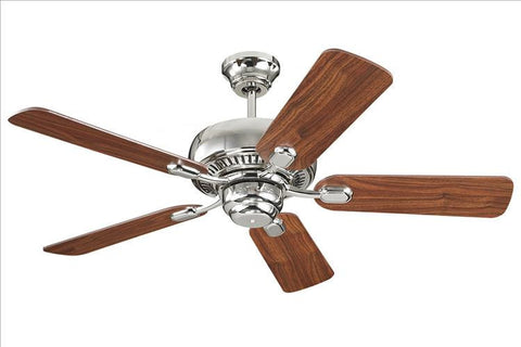 Montecarlo Centro I I 44'' 5 Blade American Walnut Ceiling Fan - 5CQ44PN - Chachkies