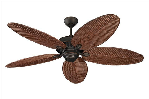 Montecarlo Cruise 52'' 5 Blade American Walnut ABS w/Grain Palm Ceiling Fan - 5CU52RB - Chachkies