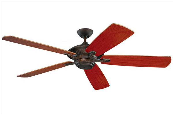 Montecarlo Cyclone 60'' 5 Blade American Walnut ABS w/Grain Ceiling Fan - 5CY60RB - Chachkies
