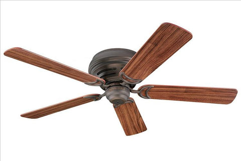 Montecarlo Designer Hugger 52'' 5 Blade American Walnut Ceiling Fan - 5DH52RB - Chachkies