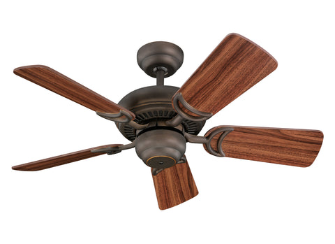 "Monte Carlo 34"" Designer Supreme III Fan - Roman Bronze Ceiling Fan - 5DS34RB"