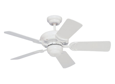"Monte Carlo 34"" Designer Supreme III Fan - White Ceiling Fan - 5DS34WH"
