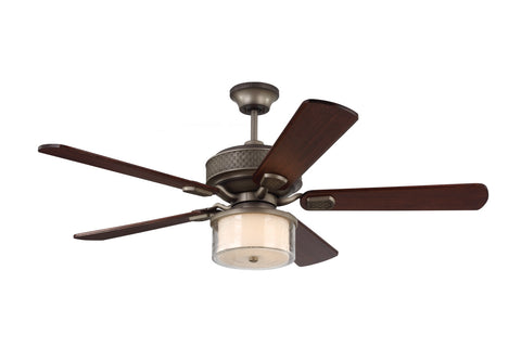 "Monte Carlo 54"" Hillsborough - Aged Pewter - Ceiling Fan 5HLR54AGP - Chachkies"