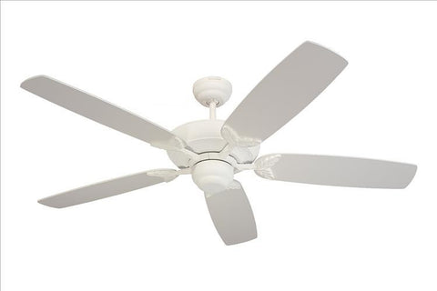 Montecarlo Mansion 52'' 5 Blade Matte White Ceiling Fan - 5MS52TW - Chachkies
