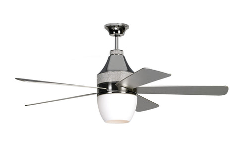 "Monte Carlo 52"" Nikki - Polished Nickel - Ceiling Fan 5NKR52PND - Chachkies"