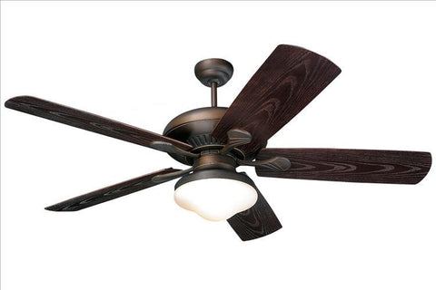 Montecarlo The Shores 54'' 5 Blade Roman Bronze ABS w/ Grain Ceiling Fan - 5SH54RBD-L - Chachkies