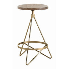 Arteriors Home Wyndham Wood/Iron Swivel Counter Stool
