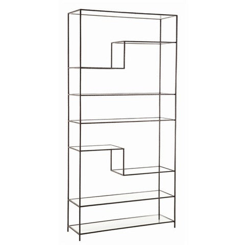 Arteriors Home Worchester Bookshelf, Natural Iron