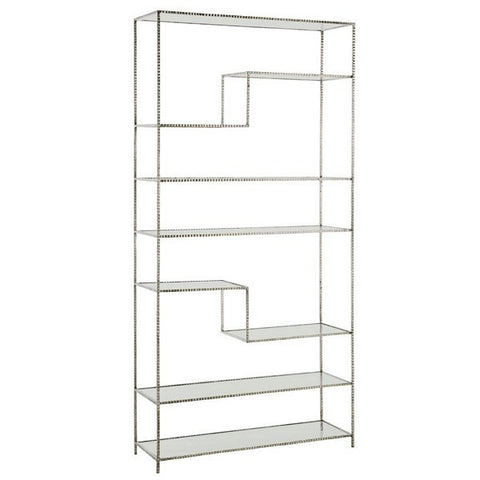 Arteriors Home Worchester Bookshelf, Silver Leaf