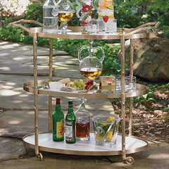 Global Views Arbor Bar Cart-Brass - Global Views 8-82047 - Chachkies
