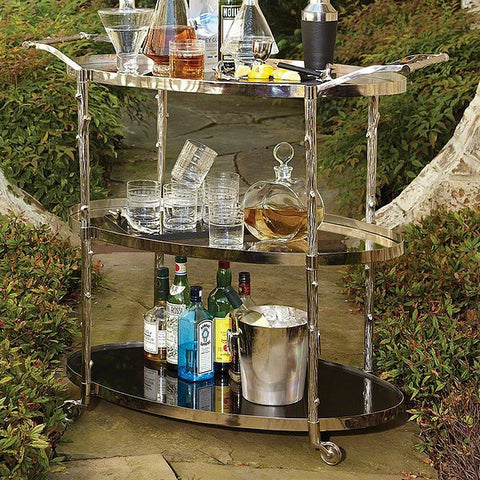 Global Views Arbor Bar Cart-Nickel - Global Views 8-82048 - Chachkies