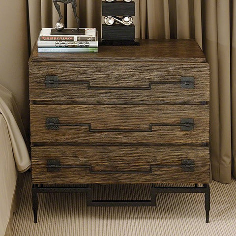 Global Views 3 Drawer Wide Chest-Dark Brushed Mango - Global Views 9-91024 - Chachkies