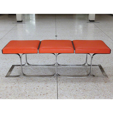 Global Views Airline Bench-Orange - Global Views 9-91555 - Chachkies