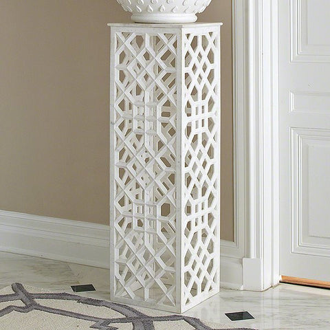 Global Views Marble Fret Pedestal - GV-9-91948