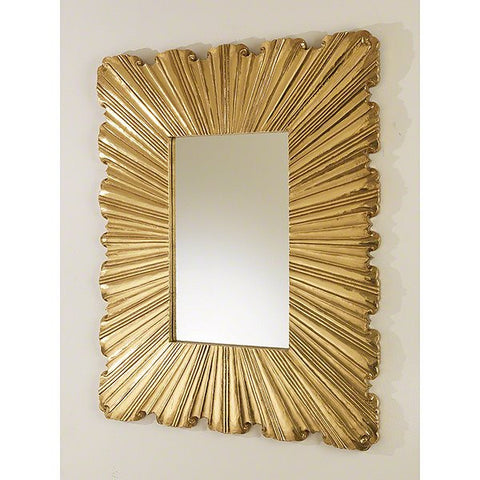 Global Views Linen Fold Mirror-Brass - Global Views 9-92167 - Chachkies