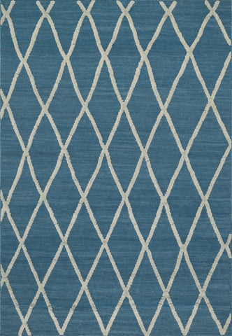 "Loloi Rugs - Adler - 3'-6"" X 5'-6"" - Azure - Chachkies"