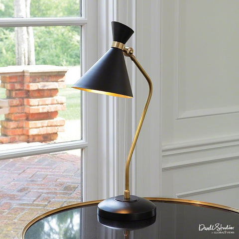 Global Views Cone Desk Lamp-Bronze/Brass - Global Views D9-90039 - Chachkies