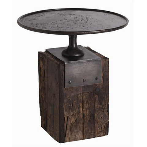 Arteriors Home Anvil Cast Iron/Reclaimed Wood Side Table - Chachkies
