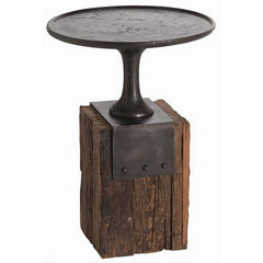 Arteriors Home Anvil Cast Iron/Reclaimed Wood Occasional Table - Chachkies