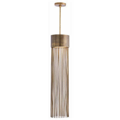 Arteriors Home Berti 2L Solid Brass/Glass Pendant - Chachkies