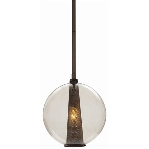 Arteriors Home Caviar Adj Md Brown Nickel/Smoke Glass Pendant - Chachkies