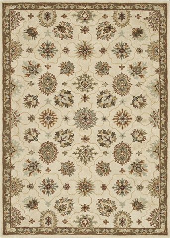 "Loloi Rugs - Fairfield - 7'-6"" X 9'-6"" - Ivory / Taupe - Chachkies"