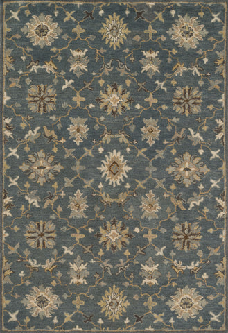 "Loloi Rugs - Fairfield - 5'-0"" X 7'-6"" - Grey / Silver - Chachkies"