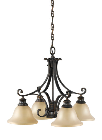 Feiss 5 Bulb Liberty Bronze Chandelier