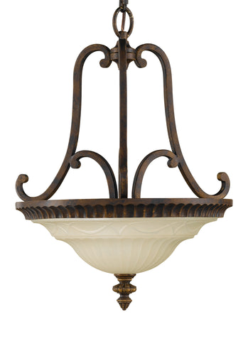 Feiss 2 Bulb Walnut Chandelier