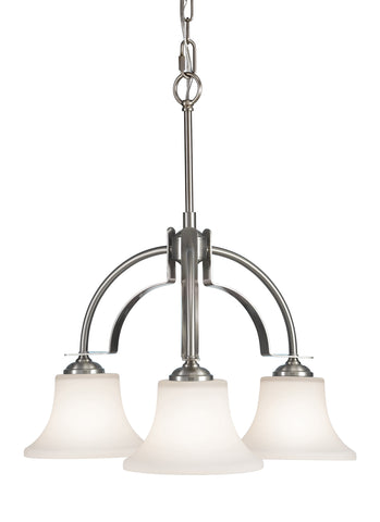Feiss 3 Bulb Brushed Steel  Chandelier