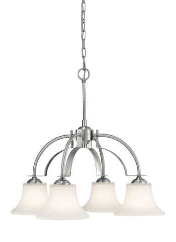 Feiss 4 Bulb Brushed Steel  Chandelier