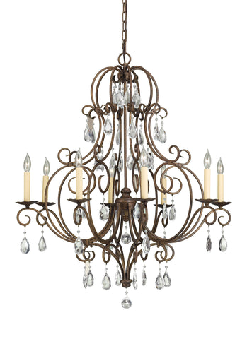 Feiss 8 Bulb Mocha Bronze Chandelier