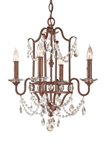 Feiss 4 Bulb Mocha Bronze Chandelier