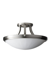 Feiss 2 Bulb Brushed Steel Semi flushmount