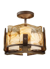 Feiss 3 Bulb Roman Bronze Semi-Flush Fixture