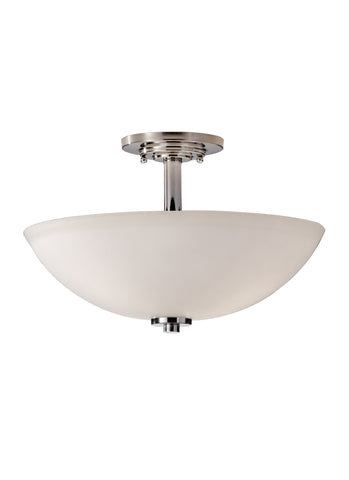 Feiss 3 Bulb Polished Nickel Semi Flushmount