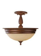 Feiss 3 Bulb Prescott Bronze Semi-Flush Fixture