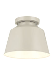 Feiss 1 Bulb Hi Gloss Grey Semi Flush