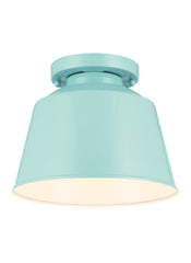 Feiss 1 Bulb Hi Gloss Blue Semi Flush