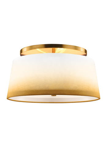 Feiss 3 - Light Semi Flush Bali Brass