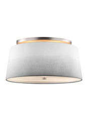 Feiss 3 - Light Semi Flush Satin Nickel