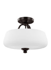 Feiss 3 - Light Semi-Flush Heritage Bronze