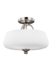 Feiss 3 - Light Semi-Flush Satin Nickel