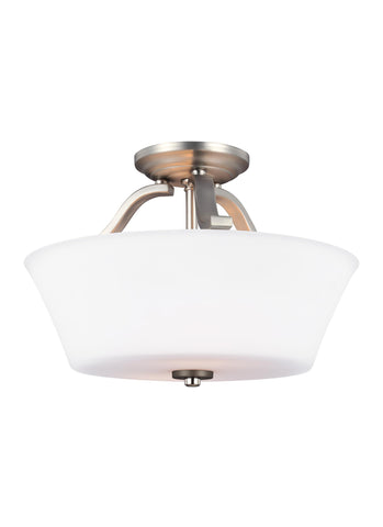 Feiss 2 - Light Semi-Flush Satin Nickel