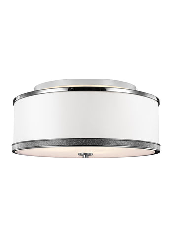 Feiss 3 - Light Indoor Semi-Flush Mount Polished Nickel