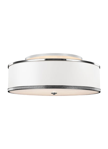Feiss 5 - Light Indoor Semi-Flush Mount Polished Nickel