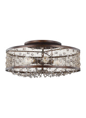 Feiss 6 - Light Semi-Flush Mount Chestnut Bronze
