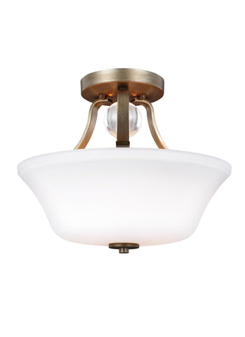 Feiss 2 - Light Semi-Flush Sunset Gold