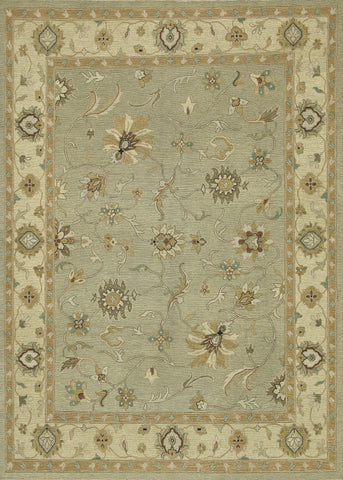 "Loloi Rugs - Laurent - 5'-6"" X 8'-6"" - Sage / Gravel - Chachkies"